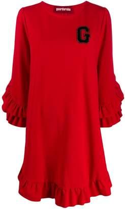 Guardaroba logo print ruffle dress