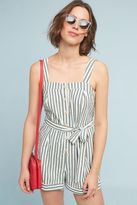 Anthropologie Alyona Striped Playsuit, Green