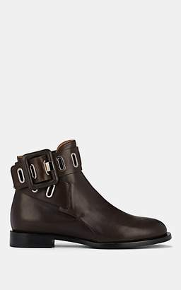 SAMUELE FAILLI Women's Buckle-Strap Leather Ankle Boots - Dk. brown