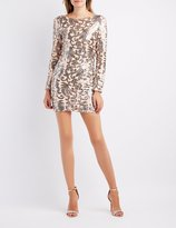 Charlotte Russe Sequin Open Back Bodycon Dress