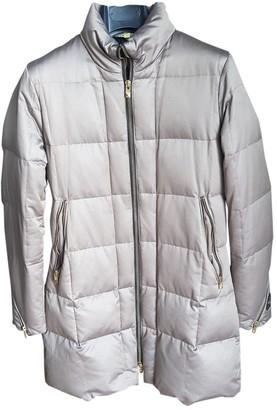 Hogan Grey Cotton Coat for Women