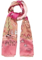 Valentino The Garden of Earthly Delights-print scarf