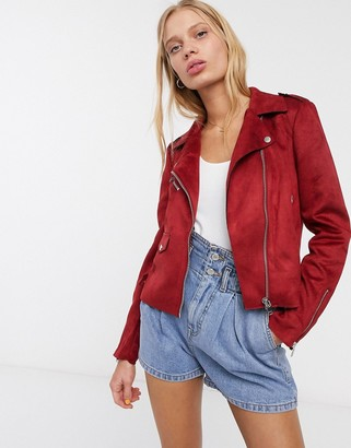 Only Sherry faux suede biker jacket