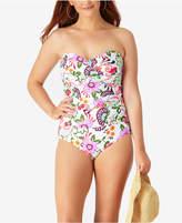 Anne Cole Plus Size Fleetwood Floral Bandeau One-Piece Swimsuit Women's Swimsuit