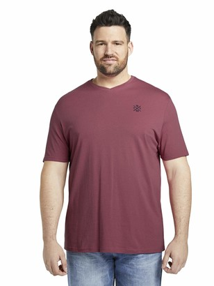 TOM TAILOR Men+ Men's Basic V-Neck T-Shirt