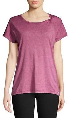 Andrew Marc Washed Twist-Neck Tee