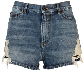 Saint Laurent Denim Shorts