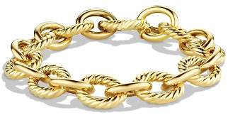 David Yurman Oval Large Link Bracelet in Gold