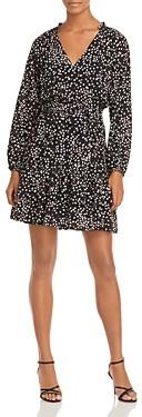 Aqua Printed Tie Waist Mini Dress - 100% Exclusive