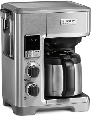 Wolf Gourmet Programmable Coffee Maker with Black Knobs