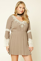 Forever 21 FOREVER 21+ Plus Size Lace Mini Dress