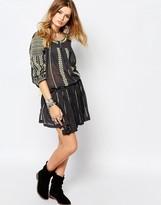 Gat Rimon Embroidered Skirt in Black