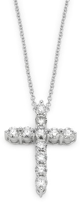 Effy 14K White Gold Diamond Cross Pendant Necklace