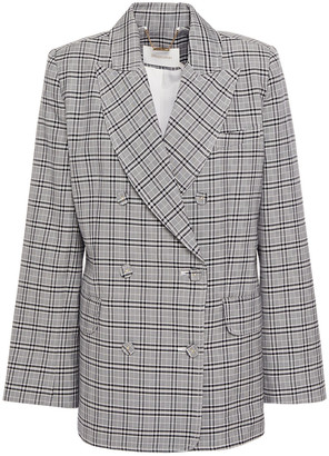 Zimmermann Ninety Six Double-breasted Checked Cotton-blend Blazer