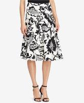 Lauren Ralph Lauren Paisley-Print Crepe Skirt