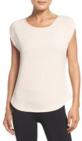 Zella Women's Getaway Lattice Back Tee