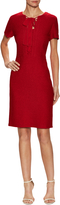 St. John Women's Newport Tie Front Neck Flared Dress