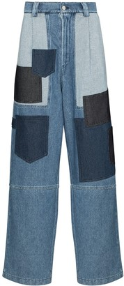 Sunnei Patchwork Loose-Fit Jeans