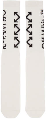 Off-White Off White White and Black Arrows Socks