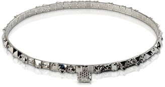 Kasun Lost Pilgrim Silver Choker Necklace