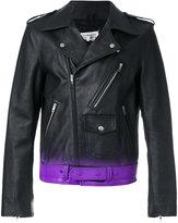 Maison Margiela gradient-effect biker jacket