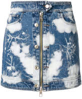 Tommy Hilfiger bleached zip mini skirt