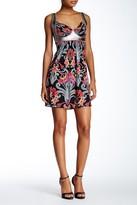 Sky Cara Silk Abstract Print Dress