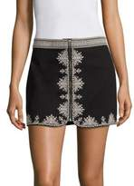 Joie Genovefa Embroidered Mini Skirt