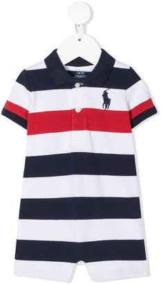 Ralph Lauren Kids Striped Polo Playsuit