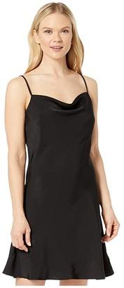 American Rose Hadley Spaghetti Strap Slip Dress (Black) Women's Dress