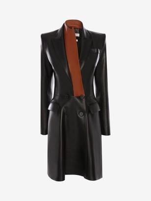 Alexander McQueen Bi-Color Leather Coat