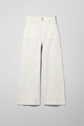 Weekday Worker White Jeans - White