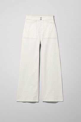 Weekday Worker White Jeans - White