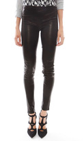 J Brand Edita Mid Rise Leather Legging