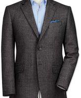 Charles Tyrwhitt Classic fit grey birdseye lambswool jacket