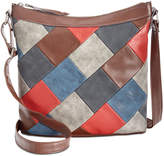 Style and Co Janis Patchwork Crossbody Hobo, Created for Macy's