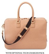 Aspinal Of London Mount Street Small Briefcase Deer Brown