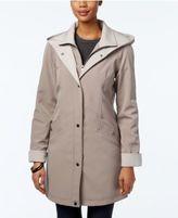 Jones New York Water-Resistant Hooded Colorblocked Raincoat