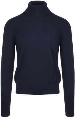 Fedeli Dark Blue Man Turtleneck Pullover
