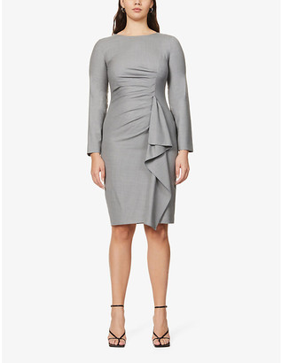 Max Mara Sultano ruffled wool midi dress