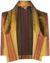 Romeo Gigli Pre Owned 1990s striped open vest