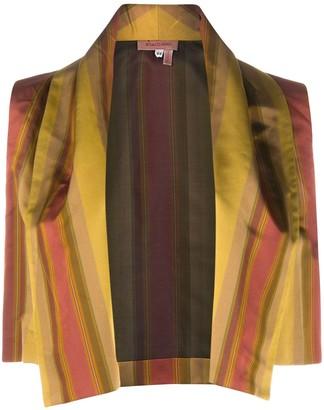 Romeo Gigli Pre Owned 1990s Striped Open Vest