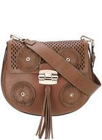 Furla fringed detail satchel