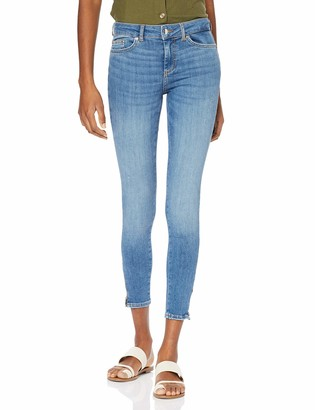 Pieces Women's PCDELLY DLX MW SKN CR LB124-BA/NOOS Skinny Jeans