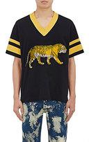 Gucci Men's Embellished Cotton Athletic Jersey-BLACK, NO COLOR