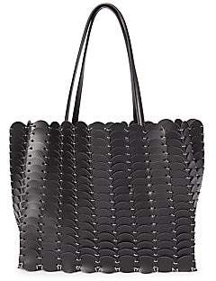 Paco Rabanne Women's Large Pendant Leather Tote