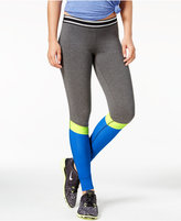 Material Girl Active Juniors' Colorblocked Leggings, Only at Macy's