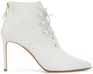 Francesco Russo 100mm Lace-Up Ankle Boots