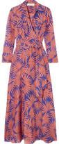 Diane von Furstenberg Printed Cotton And Silk-blend Wrap Midi Dress - Antique rose