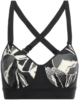 adidas Stronger For It Printed Stretch-mesh Sports Bra